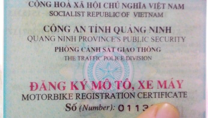 Giấy đăng ký xe