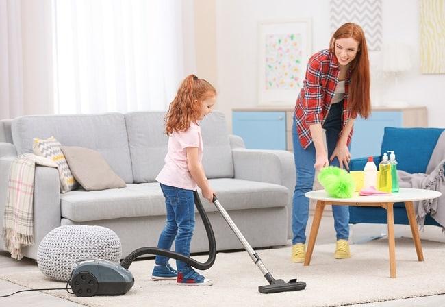 làm việc nhà, dọn dẹp nhà cửa