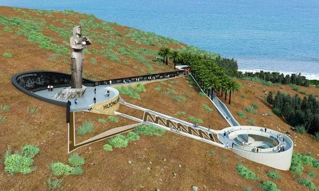 tượng đài hoàng sa, khu tưởng niệm hoàng sa