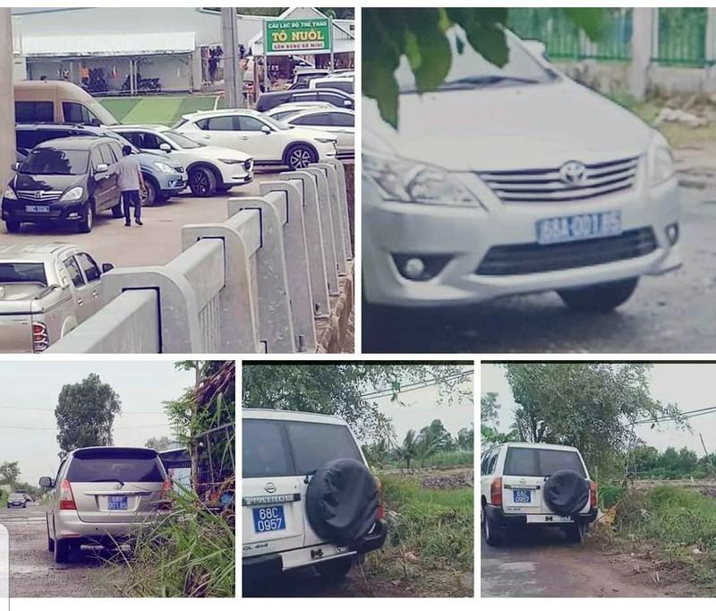 cán bộ dùng xe biển xanh đi ăn tiệc, Kiên Giang