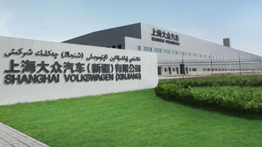 Nhà máy sản xuất ôtô của Volkswagen tại Urumqi, Tân Cương.