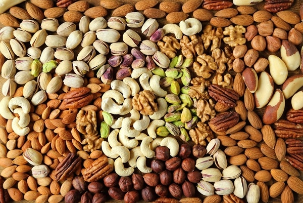 thực phẩm lành mạnh, các loại hạt