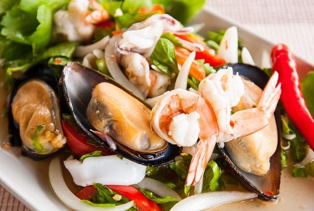 hải sản, chất sắt, vitamin