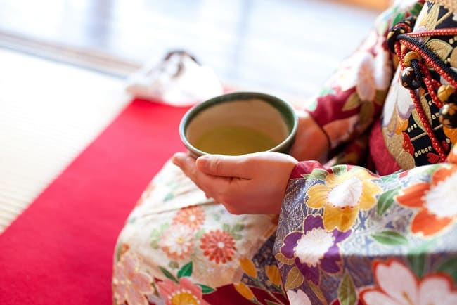 uống trà xanh, người Nhật Bản, trà xanh
