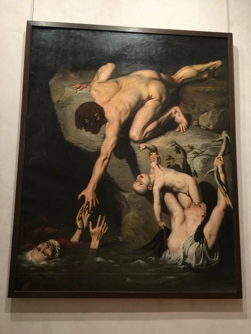 """nhân phẩm, Bức """"A Scene from the Great Flood"""" (Tạm dịch: Một cảnh trong Đại Hồng Thủy), 1826, họa sĩ Joseph-Désiré Court."""