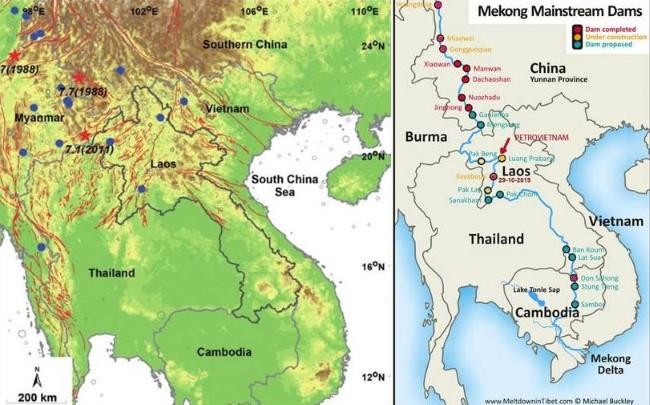 Thủy điện Luang Prabang trên vùng động đất Bắc Lào và thảm họa vỡ đập dây chuyền