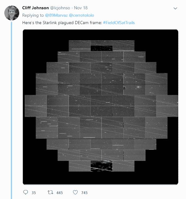 Hệ thống Starlink của Elon Musk 'phá ảnh' của giới thiên văn học
