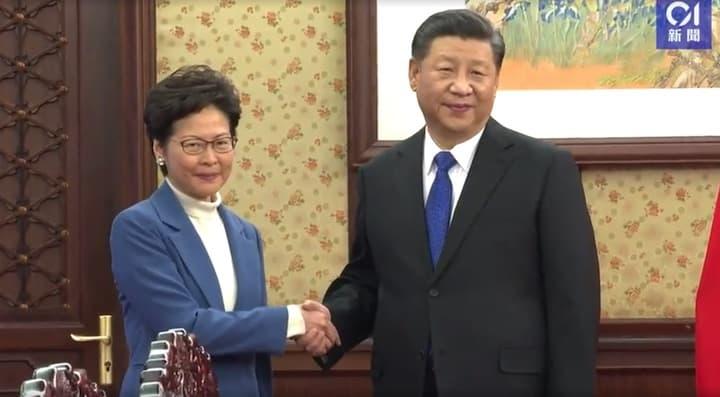 Lâm Trịnh Nguyệt Nga, Tập Cận Bình, Carrie Lam