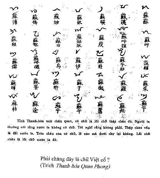 Chữ Việt cổ? Văn minh cổ?