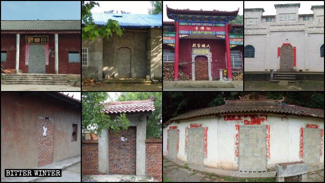Trung Quốc: Các ngôi đền bị chính quyền bít bằng gạch và bê tông