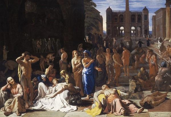 """nguyên nhân của đại dịch qua bức """"Đại dịch ở Rome"""""""