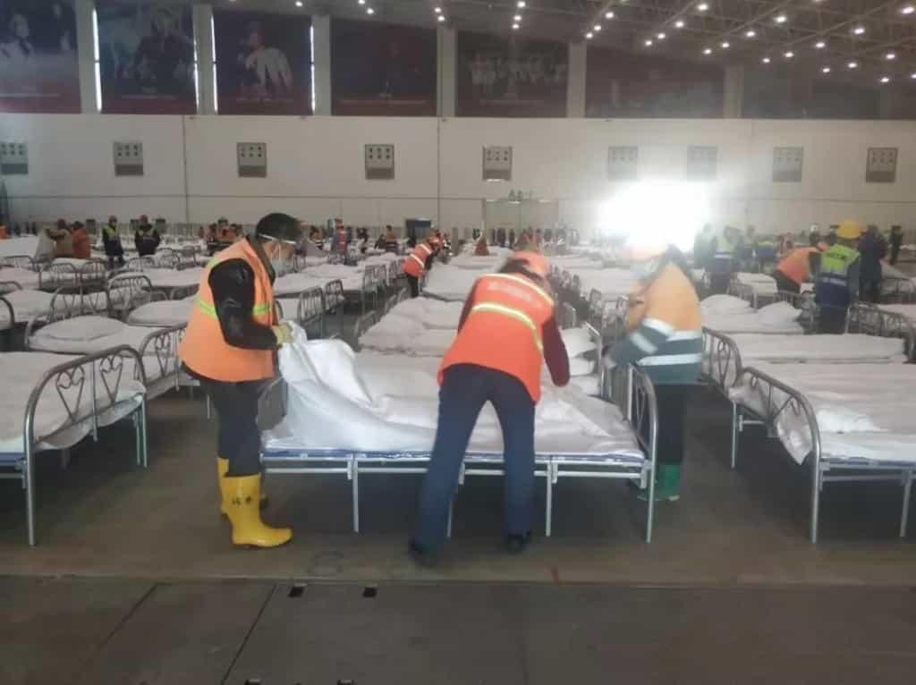 Bệnh viện dã chiến ứng phó với dịch viêm phổi do virus corona tại Vũ Hán