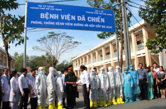 xây bệnh viện dã chiến, virus corona, TP.HCM
