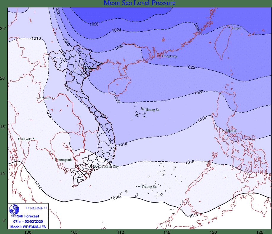 không khí lạnh, Trung tâm Dự báo Khí tượng Thủy văn Quốc gia