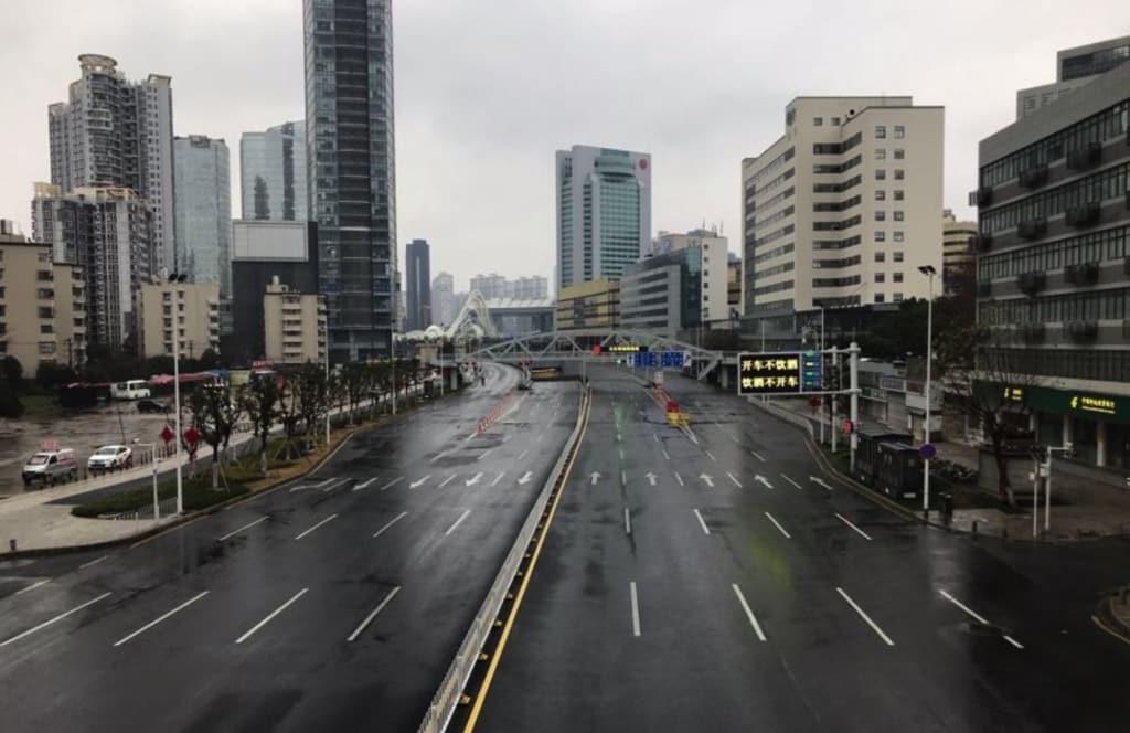 Vũ Hán bị phong tỏa, đường phố trở nên lạnh lẽo, virus corona, viêm phổi vũ hán