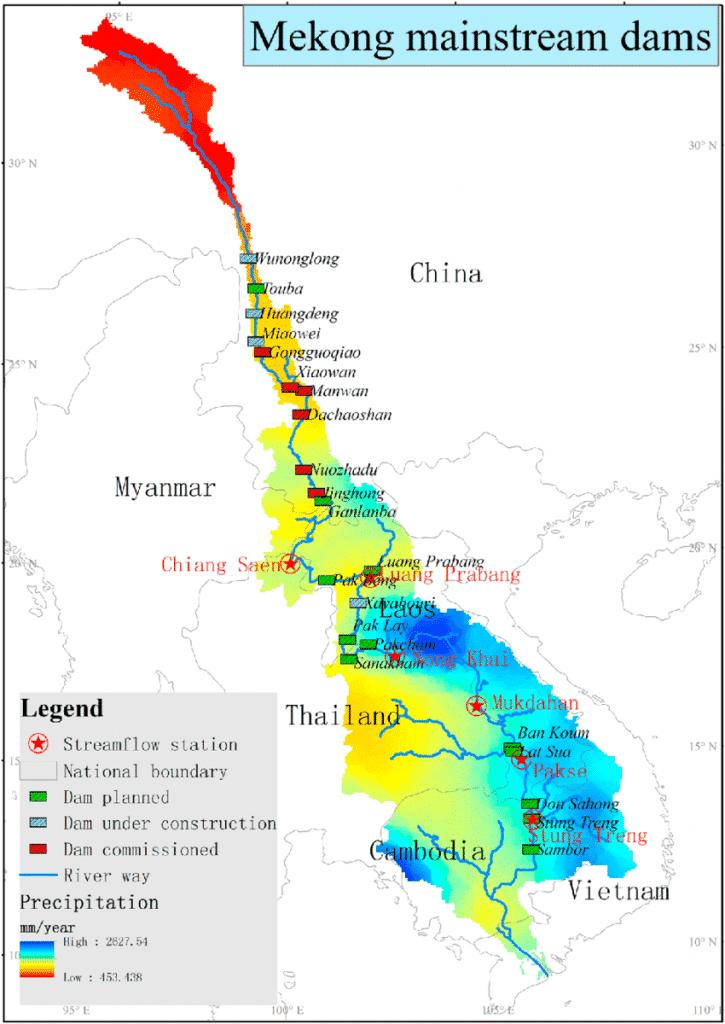 thủy điện trên sông Mekong