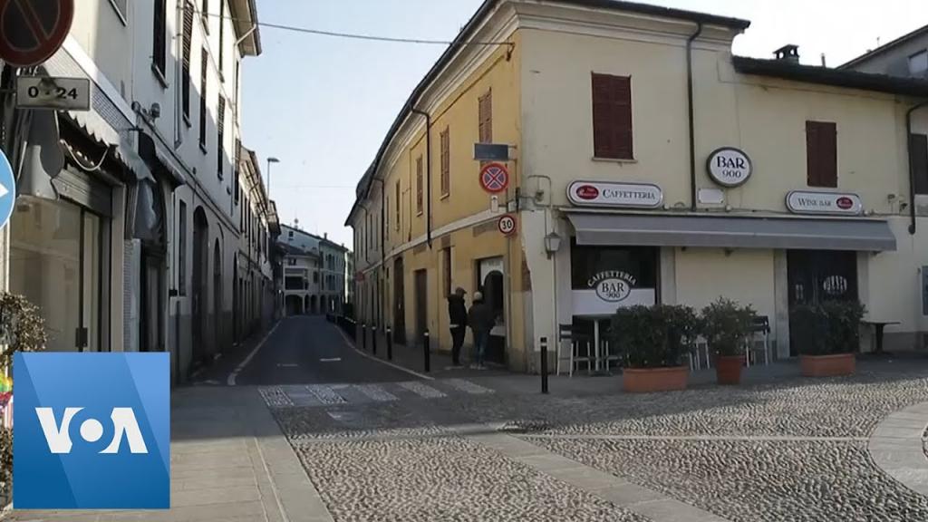 Quang cảnh vắng vẻ tại một phu phố ở vung Lombardy.