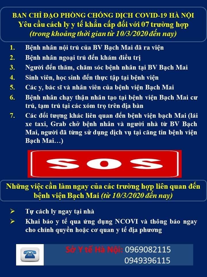 bệnh viện Bạch Mai, virus corona Việt Nam