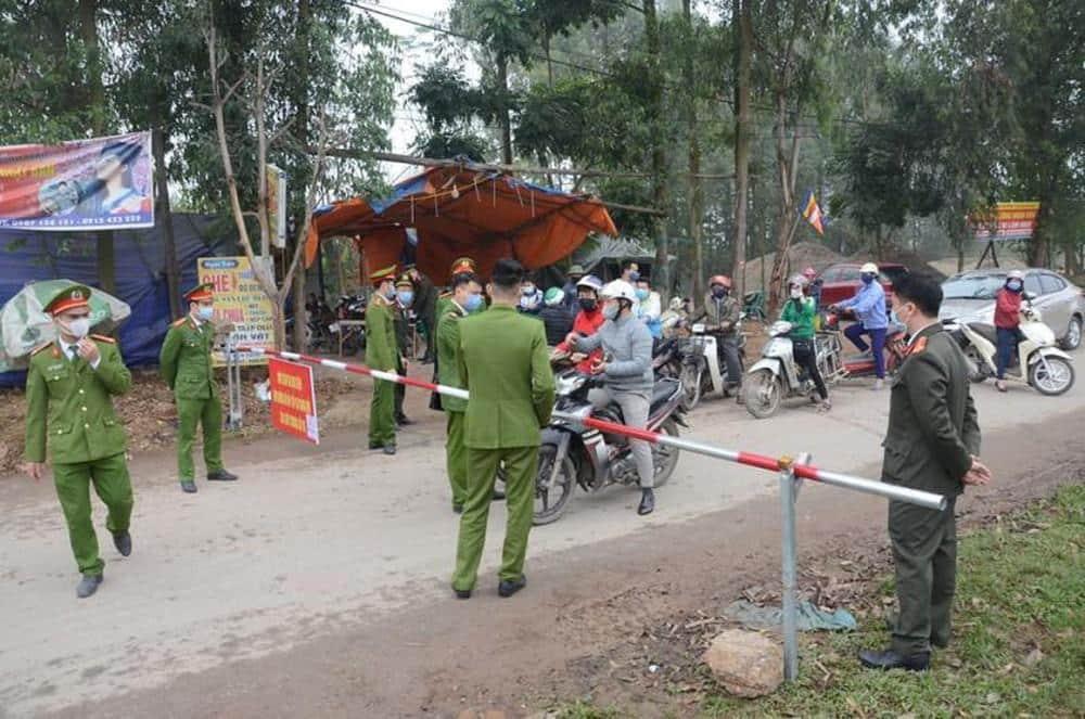 COVID-19, Vĩnh Phúc , cách ly xã Sơn Lôi