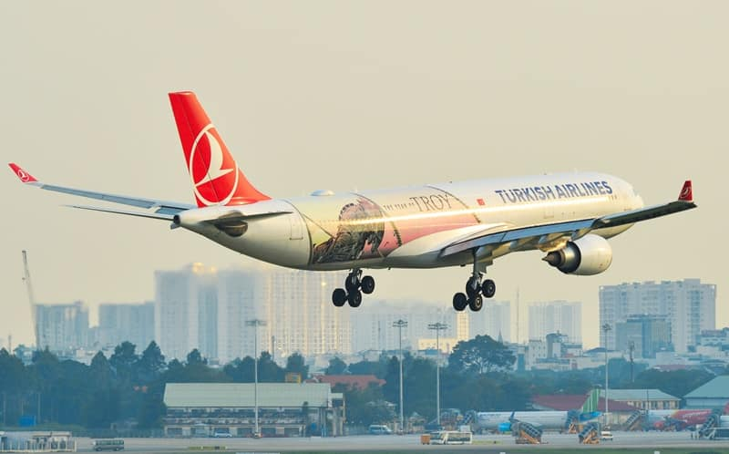 máy bay Turkish Airlines