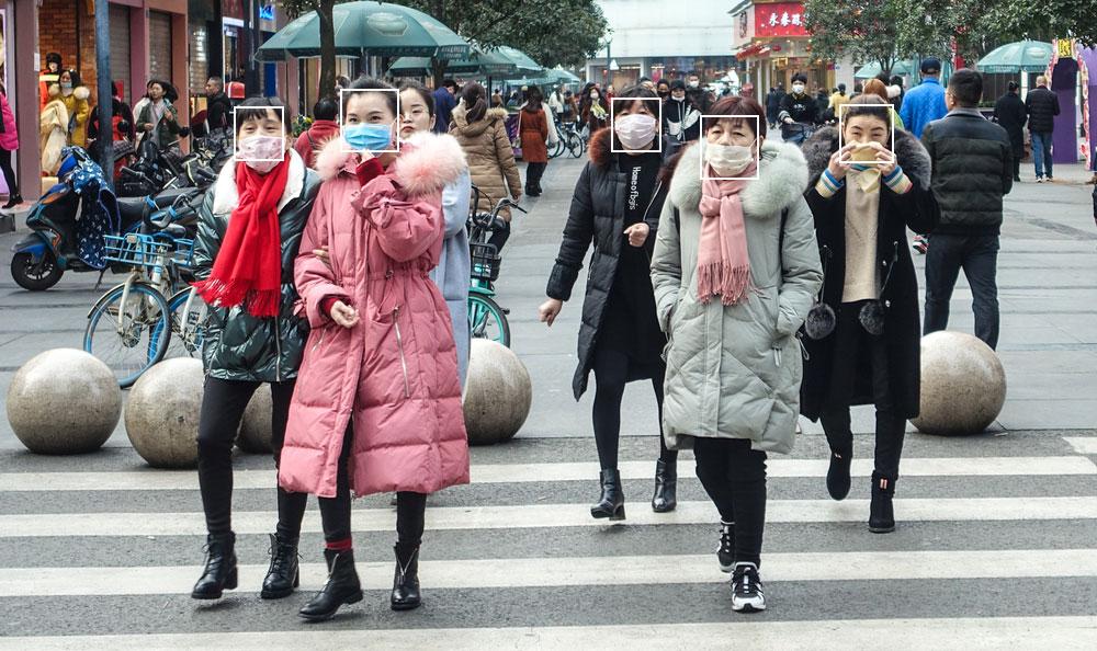 Ứng phó COVID-19: TQ ra mắt công nghệ nhận diện khuôn mặt đeo khẩu trang