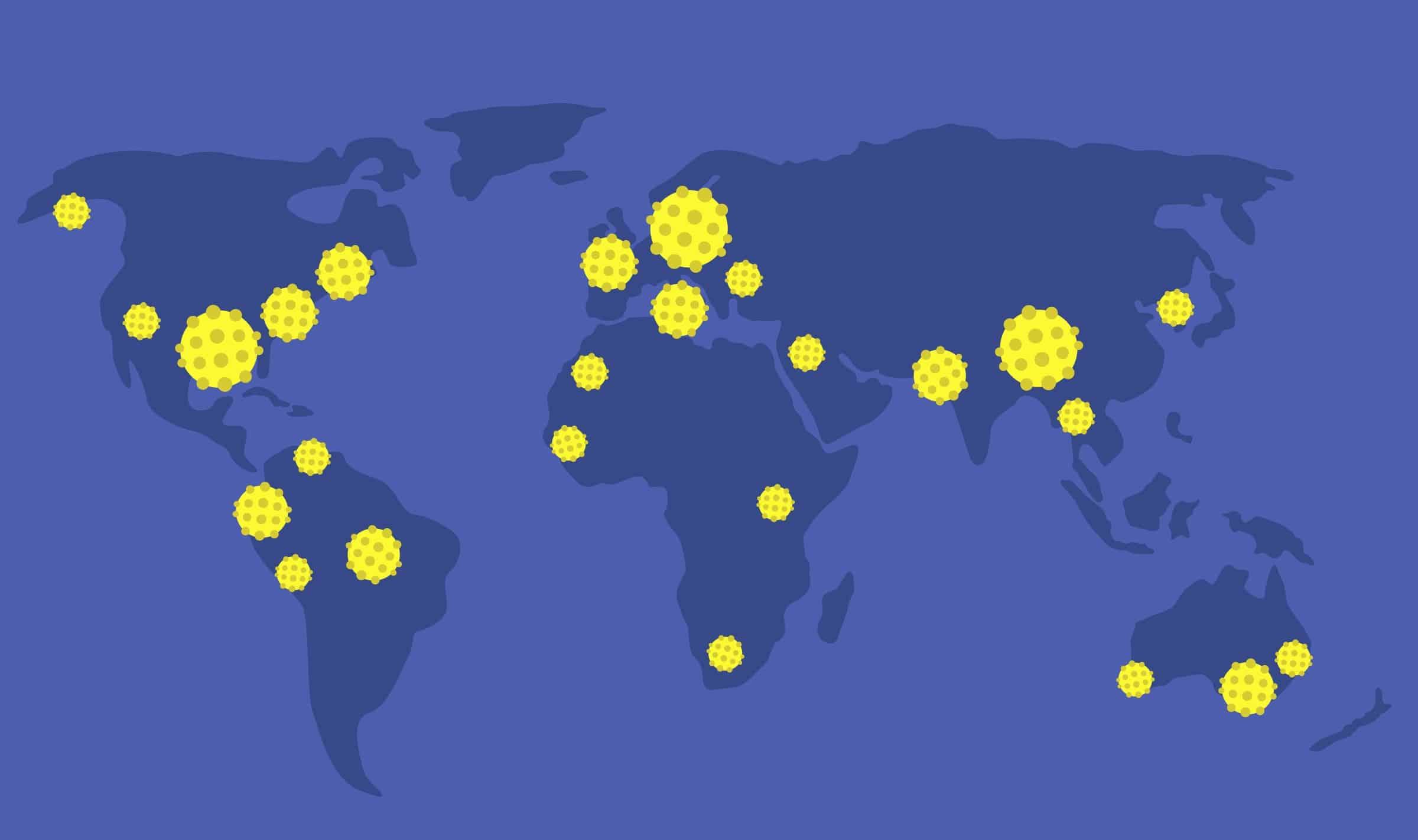 Ảnh vệ tinh, tốc độ Internet, dịch bệnh covid-19