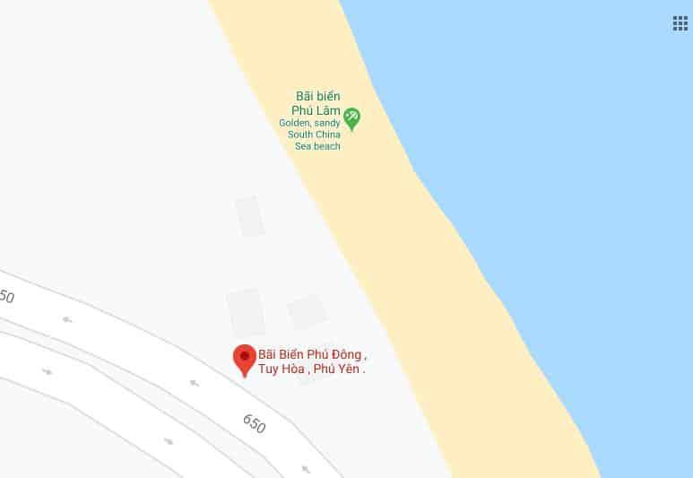 Phú Yên, Google Maps