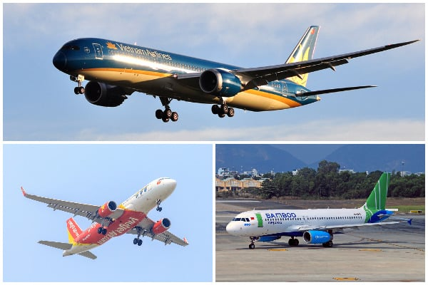 Vietnam Airlines, Vietjet Air, Bamboo Airways