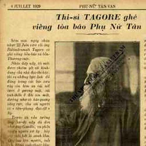 Thi hào Rabindranath Tagore viếng Saigon – 1929