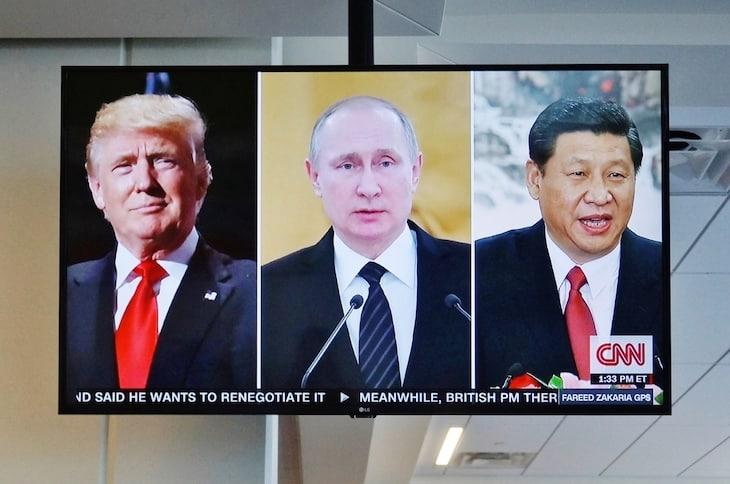 Donald Trump, Putin, Tập Cận Bình