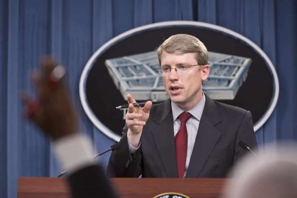 Ông David F. Helvey, quyền Phụ tá Bộ trưởng Quốc phòng Mỹ đặc trách Ấn Độ - Thái Bình Dương.