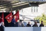 Tổng thống Donald Trump phát biểu trong lễ tốt nghiệp của hơn 1.000 học viên sĩ quan tại Học viên Quân sự West Point hôm 13/6.