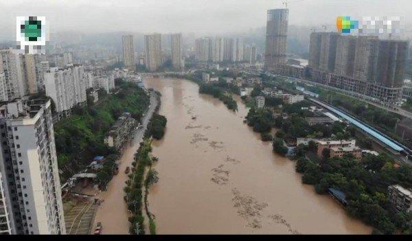 Đến nay được biết ít nhất 11,22 triệu người tại 26 tỉnh của Trung Quốc đã chịu ảnh hưởng thảm họa mưa lũ (Nguồn: ảnh chụp màn hình video).