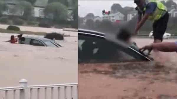 Đến ngày 26/6, 26 tỉnh thành tại Trung Quốc đang hứng chịu thảm họa lũ lụt, 13,74 triệu lượt người bị ảnh hưởng. (Ảnh cắt từ video).