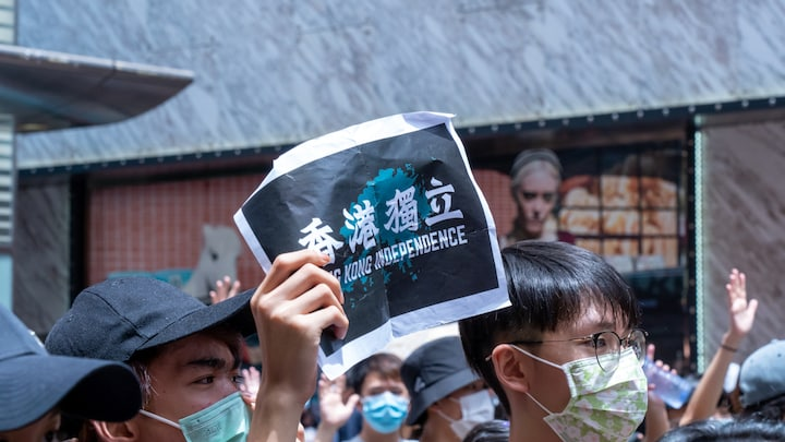Người Hồng Kông phản đối Luật an ninh Quốc gia phiên bản Hồng Kông ngày 25/5/2020.