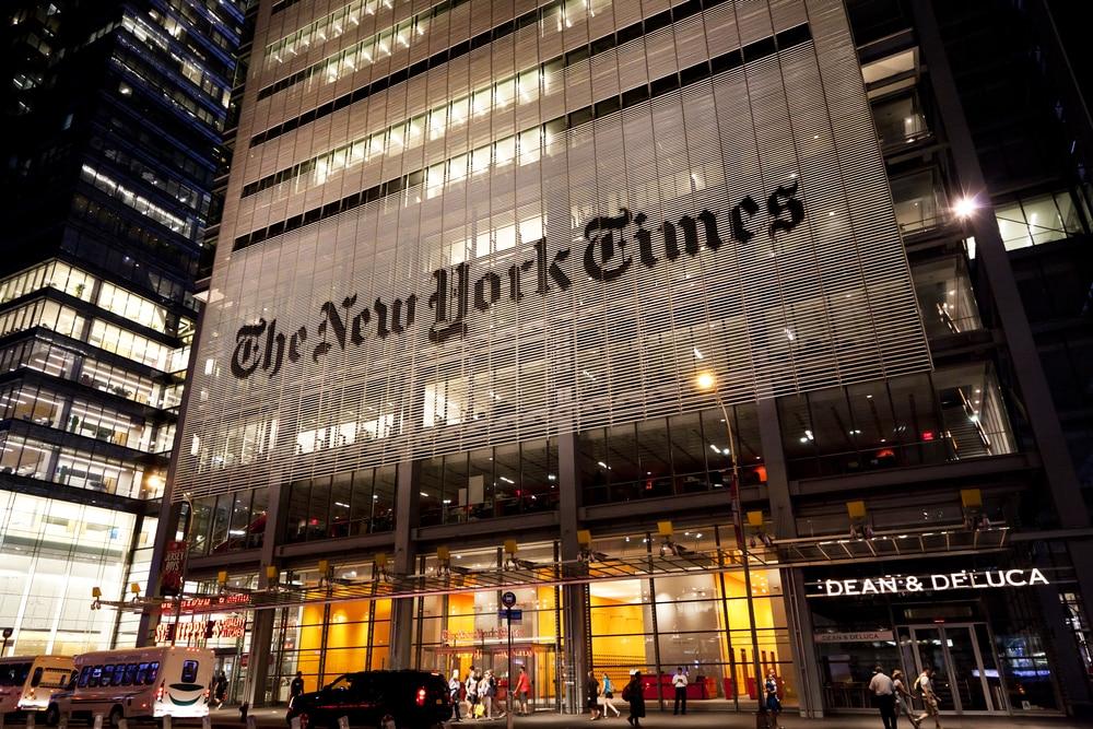 Trụ sở tờ báo New York Times tại thành phố New York, Mỹ.