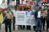 Người Mỹ gốc Ấn biểu tình kêu gọi tẩy chay Trung Quốc ở New York