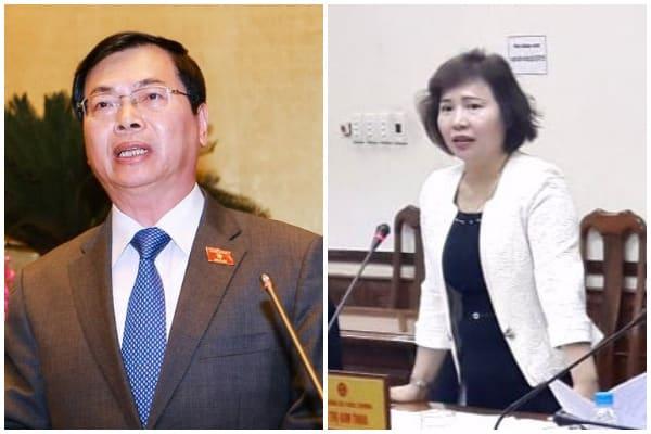 Cựu Bộ trưởng Bộ Công thương Vũ Huy Hoàng, Cựu Thứ trưởng Bộ Công thương Hồ Thị Kim Thoa, Bộ Công thương