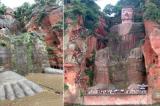 Lạc Sơn Đại Phật ngàn năm trấn áp thủy tai, nay lũ ngập đến chân tượng