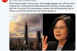 """Trung Quốc dọa sẽ """"tiêu diệt"""" bà Thái nếu Đài Loan đòi ly khai"""