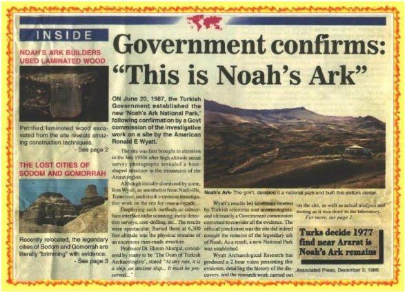 """Tờ báo lớn nhất Thổ Nhĩ Kỳ: Chính phủ xác nhận: """"Đây là tàu Noah""""."""