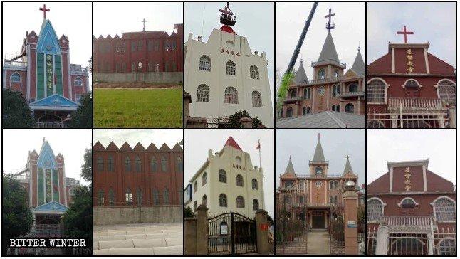 Thánh giá tại hơn 900 nhà thờ Tam tự ở An Huy bị dỡ bỏ