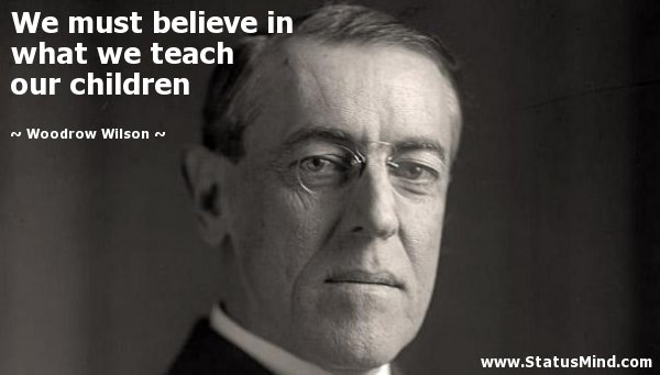 """""""Chúng ta phải tin tưởng vào những điều chúng ta đã dạy con cái của mình"""""""