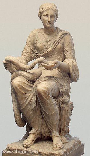 một bức tượng nữ thần Hygeia