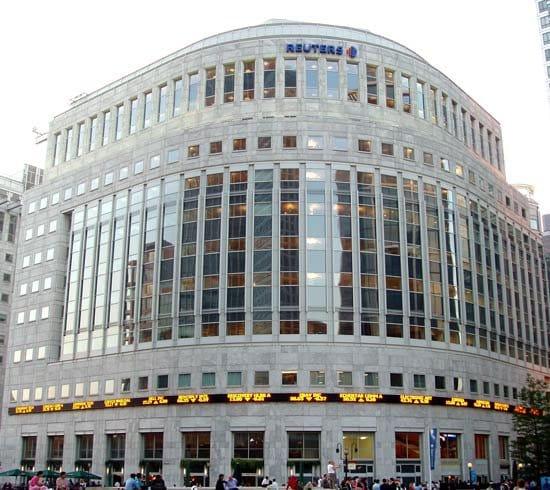 Tòa nhà Reuters tại London (Ảnh: Qua Britannica.com)