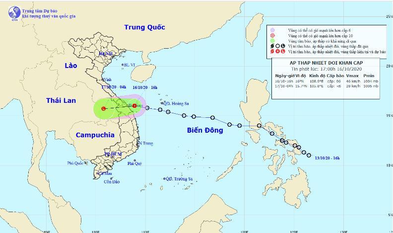 áp thấp nhiệt đới, mưa lũ miền Trung