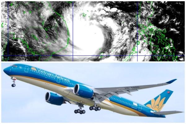 bão số 9, Vietnam Airlines, Vietjet,