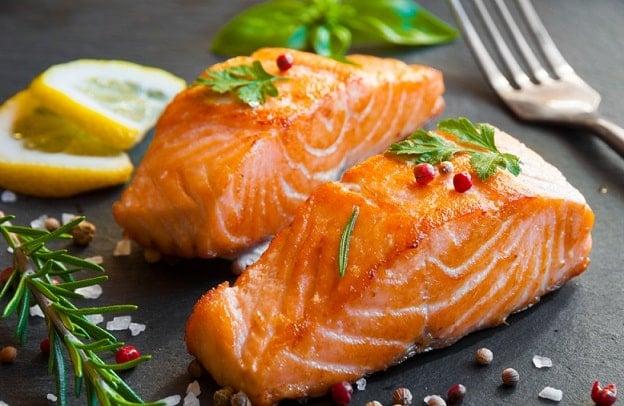 thực phẩm giàu collagen, cá hồi