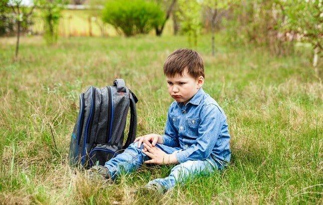 đeo cặp sách quá nặng, trẻ nhỏ, học sinh