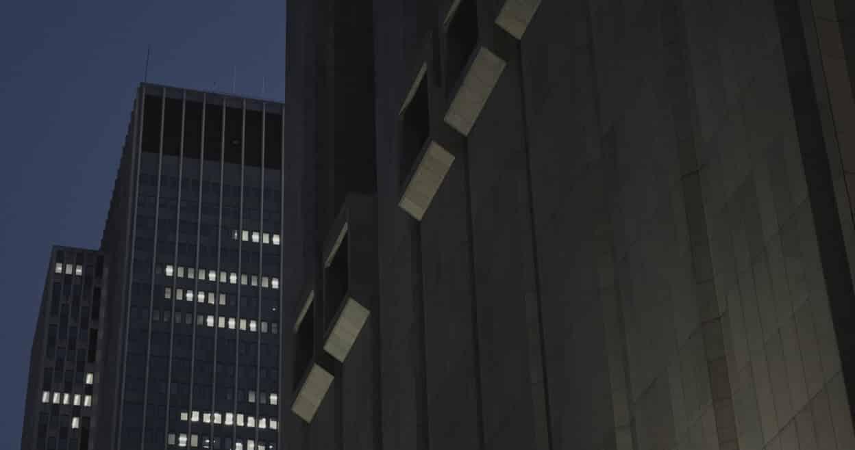 Sau lưng tòa nhà số 33 đường Thomas, Manhattan, New York. (Ảnh từ Dự án X)